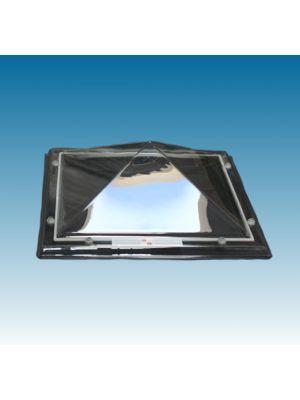 lichtkoepel 80 X 80 driewandig polycarbonaat (PC/PMMA/PC) piramide