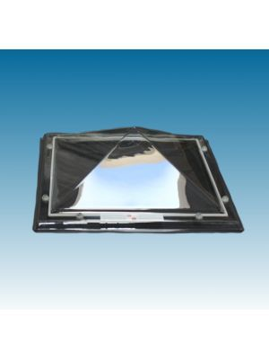 lichtkoepel 130 X 130 driewandig polycarbonaat (PC/PMMA/PC) piramide