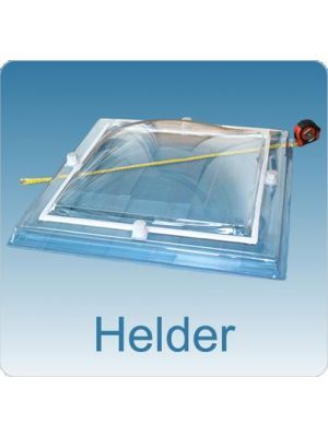 Lichtkoepel driewandig acrylaat (PMMA/PMMA/PMMA) 30X30 bolvormig helder