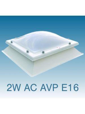 lichtkoepel dubbelwandig acrylaat met AVP opstand
