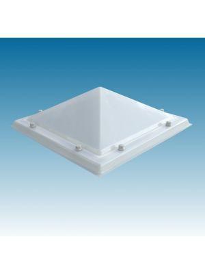 lichtkoepel 40x40 driewandig polycarbonaat (PC/PMMA/PC) piramide opaal
